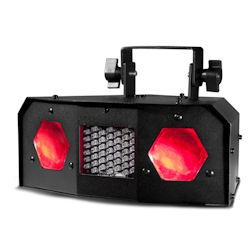 American DJ Dual Gem Pulse IR Dual Lens Moonflower Effect with RGB LED & White Strobe