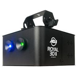 American DJ ROYAL-3D-II Green & Blue Laser DMX Effect -30mW Green & 350mW Blue Laser
