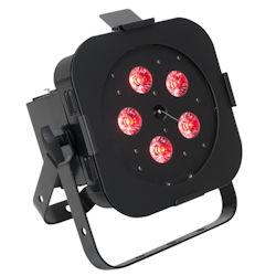 American DJ WIFLY-EXR-HEX-PAR Black RGBAW+UV Wash Fixture -Battery Powered w/WiFLY EXR