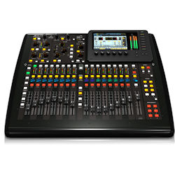 "Behringer X32 Compact 40-input, 25-total-bus Digital Mixer with 16 Programmable Mic Preamps, 17 Motorized Faders, Virtual FX Rack, and 7"" Color TFT"