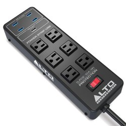 Alto Prograde Power Strip with Surge Protection and USB Hub – (discontinued clearance)