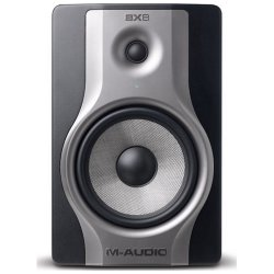 M-Audio BX8 Carbon Studio monitors for music production and mixing.
