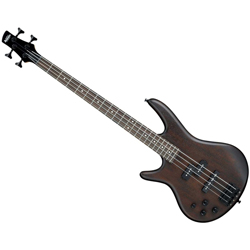 Ibanez GSR200BLWNF-d Left-Handed Bass Guitar, 4 String Walnut Flat Details (discontinued clearance)