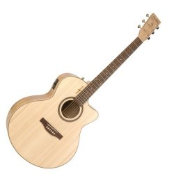 Simon & Patrick 036349 Heart of Wild Cherry CW Mini Jumbo SG T35 Acoustic Electric 6 String Guitar