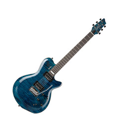 Godin 022946 LGXT Trans Blue Flame AAA 6 String Electric Guitar