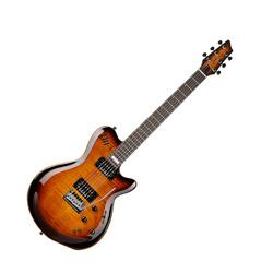 Godin 024131 LGXT Cognac Burst Flame AAA 6 String Electric Guitar