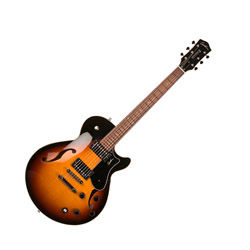 Godin 039074 Montreal Premiere TriplePlay Sunburst HG Hollowbody 6 String Electric Guitar with Bag