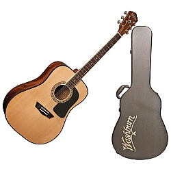 Washburn AD5K Dreadnought Acoustic Guitar with Hardshell Case (discontinued clearance)