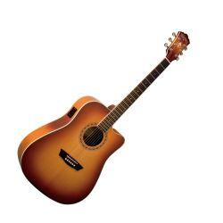 Washburn WD7SCEACS Acoustic RH 6 STR Guitar in Sunburst (discontinued clearance)