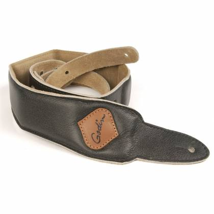 Godin 036899 Weathered Grey Padded Guitar Strap w/Patch Logo Product Image 2