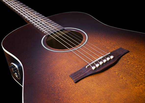 Seagull 041831 S6 Original Burnt Umber QIT 6 String RH Acoustic Electric Guitar Product Image 5