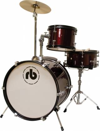 RB Drums RBJR3MWR Junior Drum Kit in Metallic Wine Red rb-jr-3-mwr Product Image