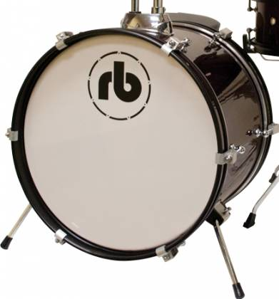 RB Drums RBJR3MWR Junior Drum Kit in Metallic Wine Red rb-jr-3-mwr Product Image 2