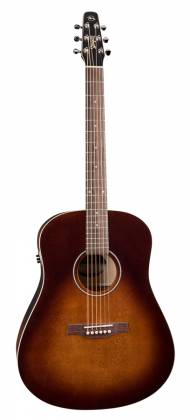 Seagull 041831 S6 Original Burnt Umber QIT 6 String RH Acoustic Electric Guitar Product Image 2
