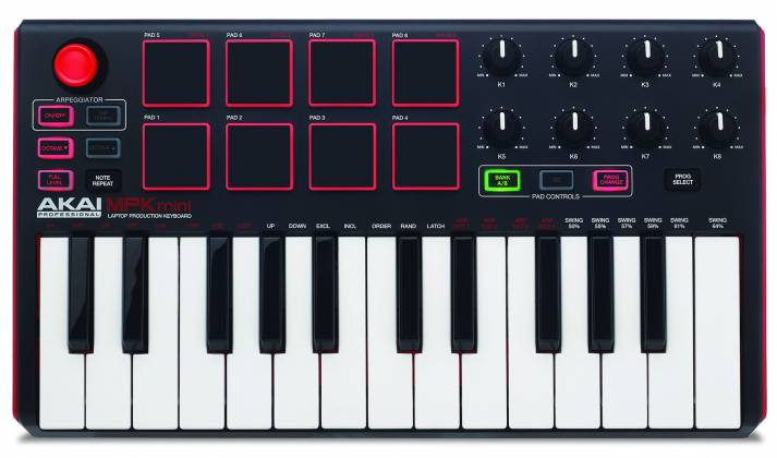 Akai MPKMINI2 Compact Keyboard and Pad Controller mpk-mini-2-mk-2 Product Image 9
