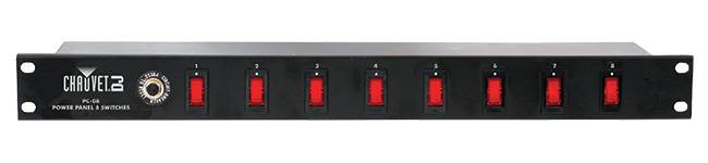 Chauvet DJ PC-08 8 Switch Power Panel NOT CSA APPROVED (discontinued clearance used) Product Image 2
