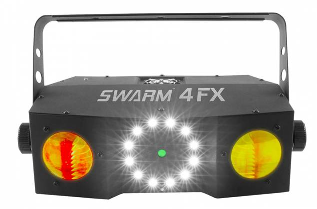 Chauvet DJ SWARM 4 FX Multi-Effects Light with Moonflowers, RG Laser, and White Strobe Product Image 5