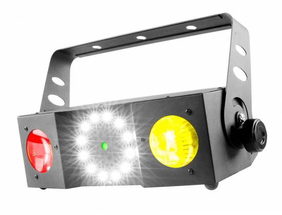 Chauvet DJ SWARM 4 FX Multi-Effects Light with Moonflowers, RG Laser, and White Strobe Product Image 7