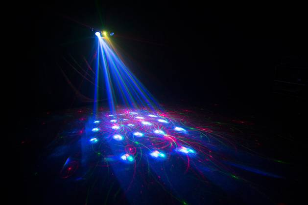 Chauvet DJ SWARM 4 FX Multi-Effects Light with Moonflowers, RG Laser, and White Strobe Product Image 8