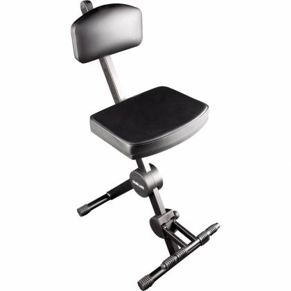 Quiklok DX749 Height Adjustable Musicians Stool with adjustable Footrest and Back Rest Product Image 3