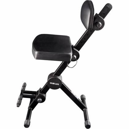 Quiklok DX749 Height Adjustable Musicians Stool with adjustable Footrest and Back Rest Product Image 4