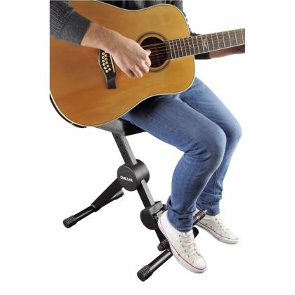 Quiklok DX749 Height Adjustable Musicians Stool with adjustable Footrest and Back Rest Product Image 5