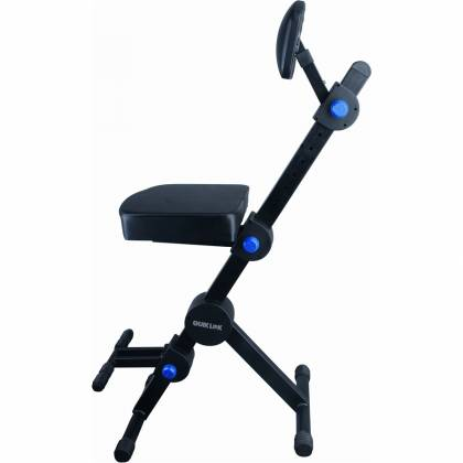 Quiklok DX749 Height Adjustable Musicians Stool with adjustable Footrest and Back Rest Product Image 6