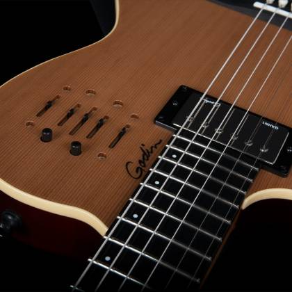 Godin 036752 A6 Ultra Natural SG 6 String LH Acoustic Electric Guitar with Gig Bag Product Image 5