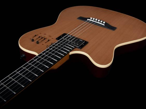 Godin 036752 A6 Ultra Natural SG 6 String LH Acoustic Electric Guitar with Gig Bag Product Image 4