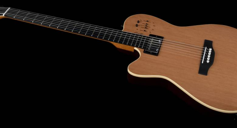 Godin 036752 A6 Ultra Natural SG 6 String LH Acoustic Electric Guitar with Gig Bag Product Image 3