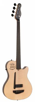 Godin 033645 A4 Ultra Natural SG Fretless EN SA 4 String Bass with Gig Bag Product Image 5