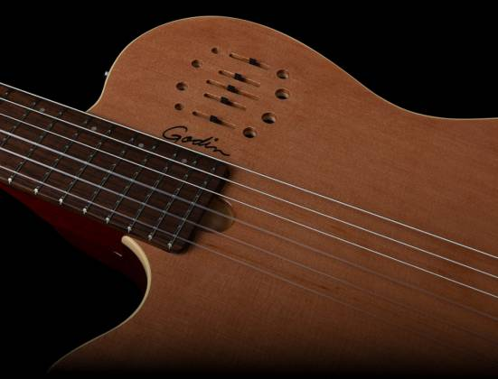 Godin 035878 MultiAc Nylon Encore Natural SG 6 String LH Acoustic Electric Guitar with Gig Bag Product Image 5