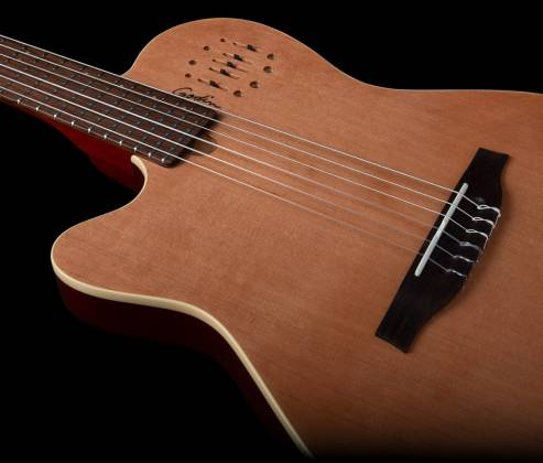 Godin 035878 MultiAc Nylon Encore Natural SG 6 String LH Acoustic Electric Guitar with Gig Bag Product Image 4