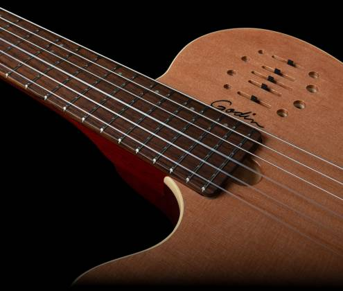 Godin 035878 MultiAc Nylon Encore Natural SG 6 String LH Acoustic Electric Guitar with Gig Bag Product Image 3