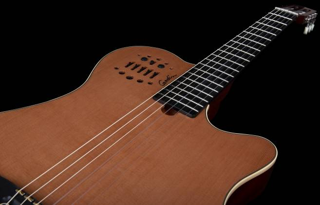 Godin 012817 Multiac Nylon Grand Concert Natural HG 6 String RH Acoustic Electric Guitar with bag Product Image 8