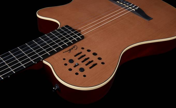 Godin 012817 Multiac Nylon Grand Concert Natural HG 6 String RH Acoustic Electric Guitar with bag Product Image 7