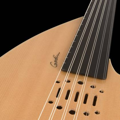 Godin 035014-d Multi Oud Ambiance Nylon Natural HG Fretless 11 String RH Acoustic Electric Guitar with Gig Bag Product Image 7