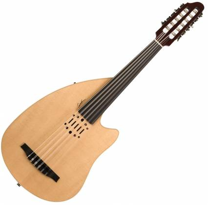Godin 035014-d Multi Oud Ambiance Nylon Natural HG Fretless 11 String RH Acoustic Electric Guitar with Gig Bag Product Image