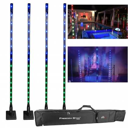 Chauvet DJ Freedom Stick Pack Lighting Package with 4 Freedom Sticks, Multi-Charger, IRC-6 Remote, and Carrying Bag Product Image