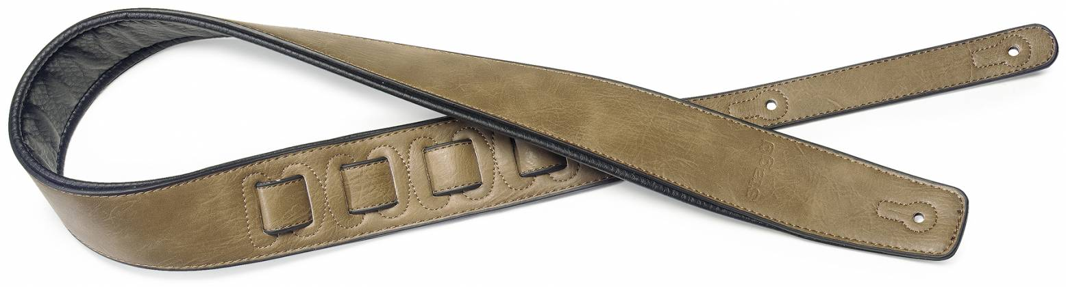 Stagg SPFL30-COP Padded Leather-Style Guitar Strap in Copper 22452 Product Image 4
