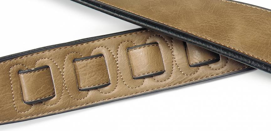 Stagg SPFL30-COP Padded Leather-Style Guitar Strap in Copper 22452 Product Image 3