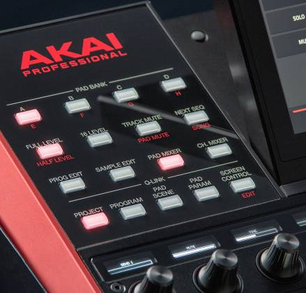 Akai MPCXXUS Stand Alone Music Production Center with Multi-Touch Screen and 16 Responsive RGB Pads akai-mpc-x-us Product Image 28