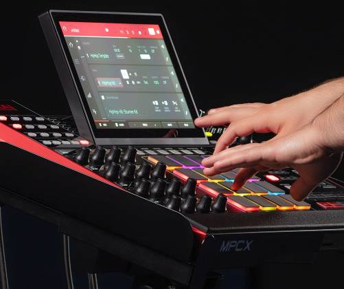 Akai MPCXXUS Stand Alone Music Production Center with Multi-Touch Screen and 16 Responsive RGB Pads akai-mpc-x-us Product Image 19