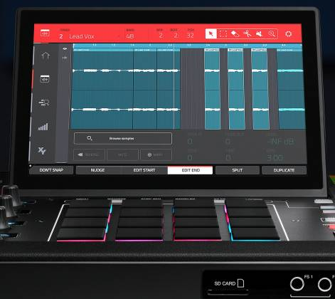 Akai MPCXXUS Stand Alone Music Production Center with Multi-Touch Screen and 16 Responsive RGB Pads akai-mpc-x-us Product Image 25