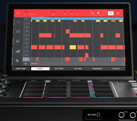 Akai MPCXXUS Stand Alone Music Production Center with Multi-Touch Screen and 16 Responsive RGB Pads akai-mpc-x-us Product Image 23