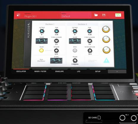 Akai MPCXXUS Stand Alone Music Production Center with Multi-Touch Screen and 16 Responsive RGB Pads akai-mpc-x-us Product Image 22