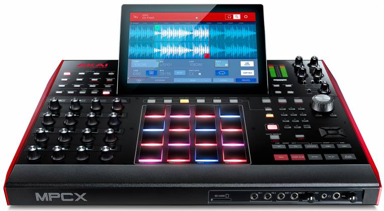 Akai MPCXXUS Stand Alone Music Production Center with Multi-Touch Screen and 16 Responsive RGB Pads akai-mpc-x-us Product Image 20