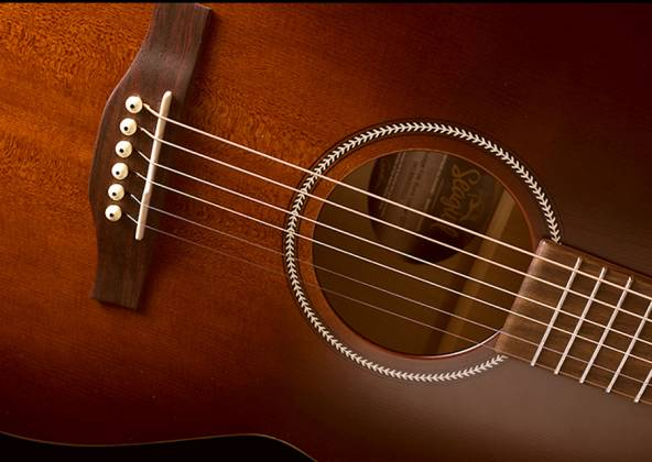 Seagull 041886 Entourage Folk Burnt Umber QIT Acoustic Electric Guitar 6 String Product Image 6