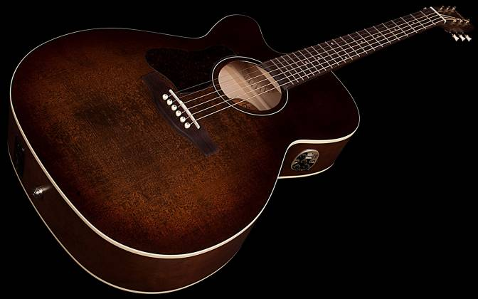 Art & Lutherie 042715 Legacy Bourbon Burst CW QIT 6 String LH Acoustic Electric Guitar 042715 Product Image 4