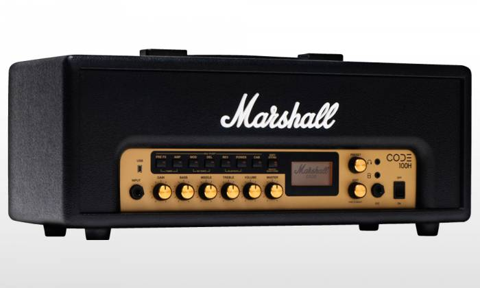 Marshall CODE100H Bluetooth Enabled Code Series 100 Watt Digital Guitar Amplifier Head with PEDL-91010 Footswitch code-100-h Product Image 7